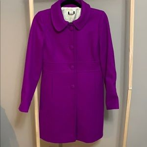 J. Crew PURPLE winter jacket